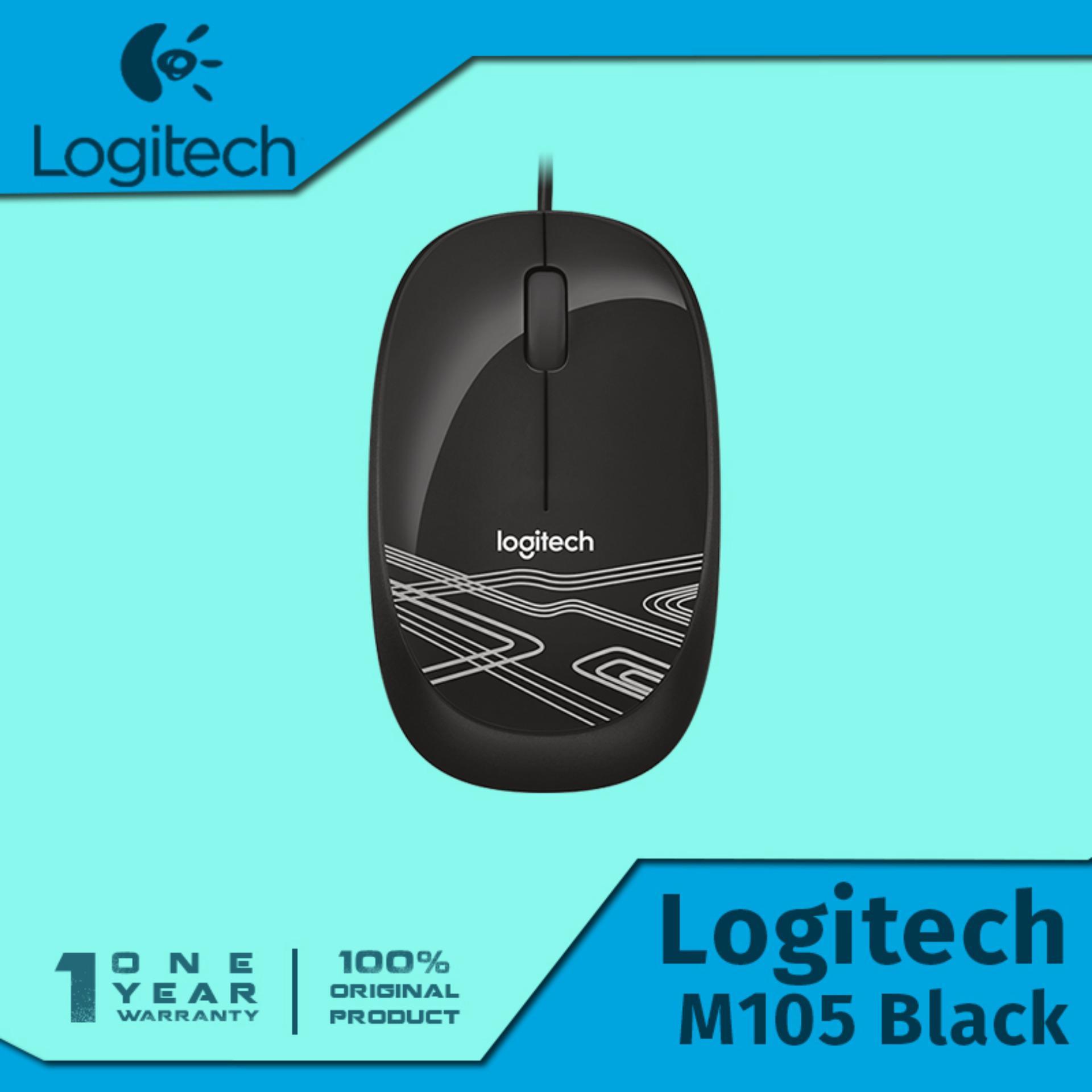 Periksa Peringkat Logitech M105 Optical Mouse Hitam Hot Deals