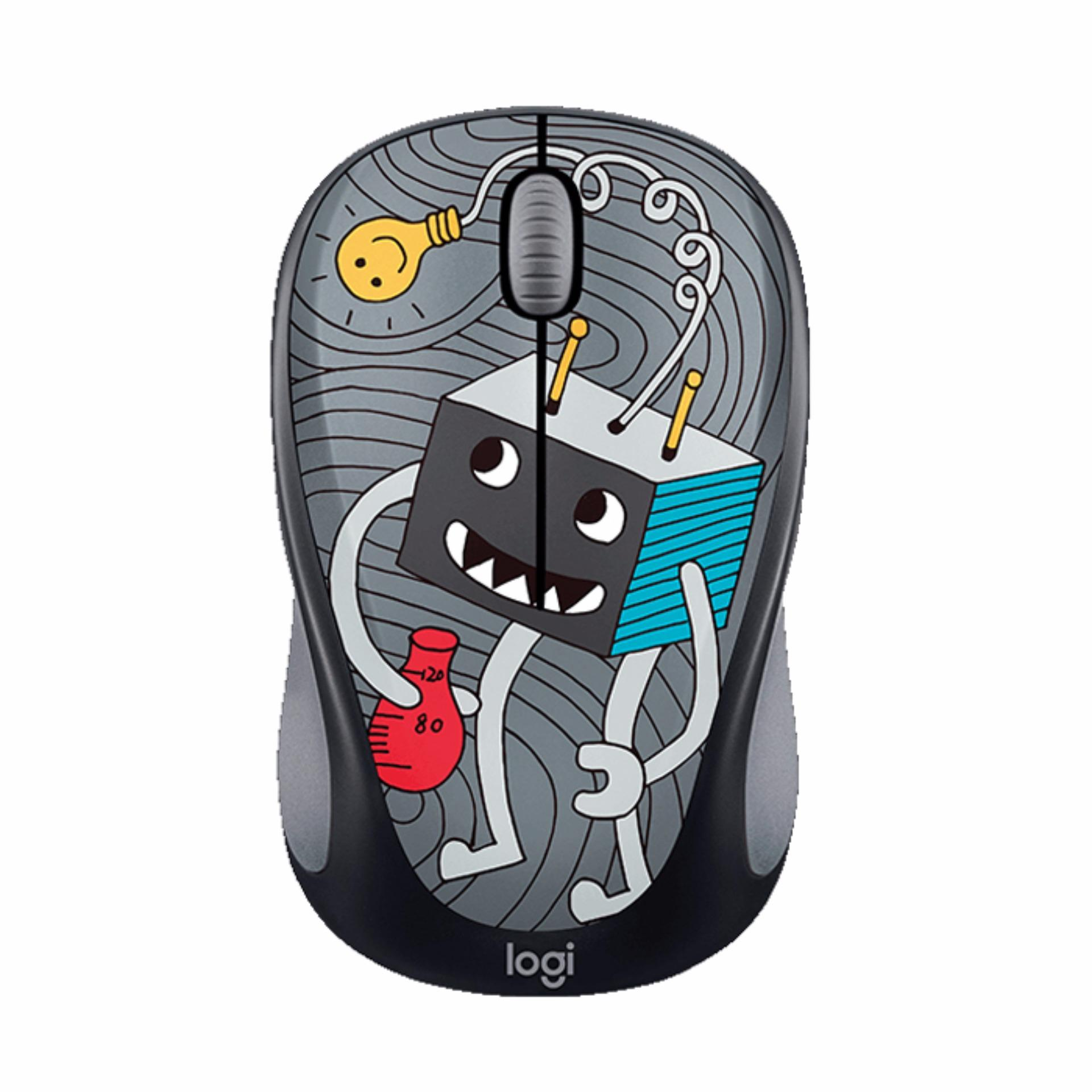 Wireless Mouse 6045 Putih A Big Deal Logitech M170 Ori M238 Doodle Collection Lightbulb