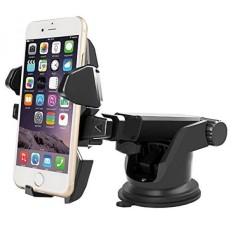 Long ARM Dashboard/Windshield Mount Holder dengan Isap Kuat, Universal untuk IPhone 7 6 5/S/Plus; samsung GALAXY S8 7 6 5 (Catatan & EDGE); Google Nexus 6 P 5X; Pixel XL dan Lainnya-(Hitam)-Intl