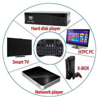 Loveu 2.4G Mini Bluetooth Portable Wireless Keyboard with TouchpadMouse Multi-media Handheld Android Keyboard (Black) - intl, 190.000, Update. Rii i8+ Mini ...