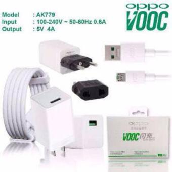 Lucky - Original 100% Fast Charger OPPO VOOC - 5 Volt Kabel Micro 4 Ampere USB - Putih