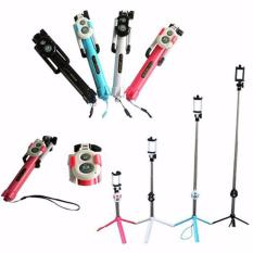 Lucky - Tongsis Tripod Monopod Terbaru 3 in 1 With Bluetooth Remote - 1 Pcs