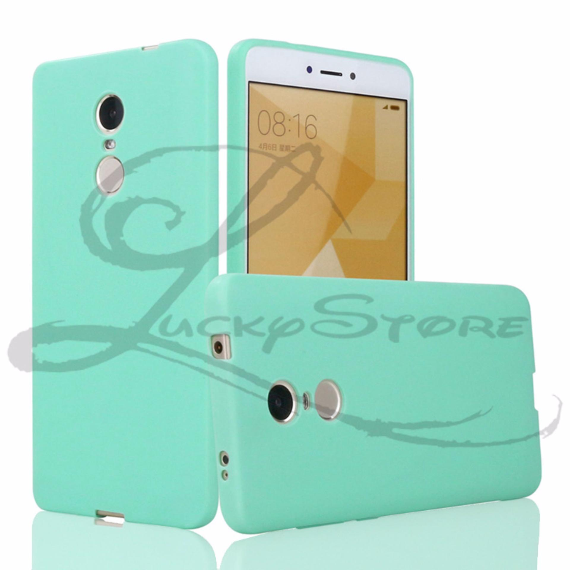 Lucky Ultra Thin Silicone Case untuk Oppo Neo 7 (A33) Candy Color Rubber Gel
