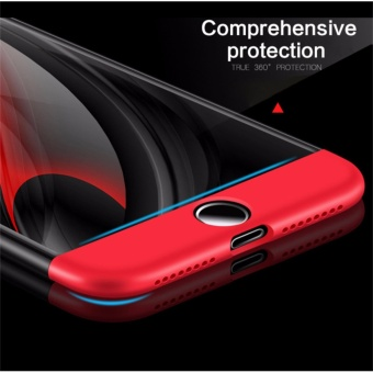 ... Case For Apple iPhone 6 plus/6s plus 5.5inch360 Degree Coverage Armor Hard PC Back Cover Slim Full Body PhoneShell+Glass Screen Protector - intl Terkini