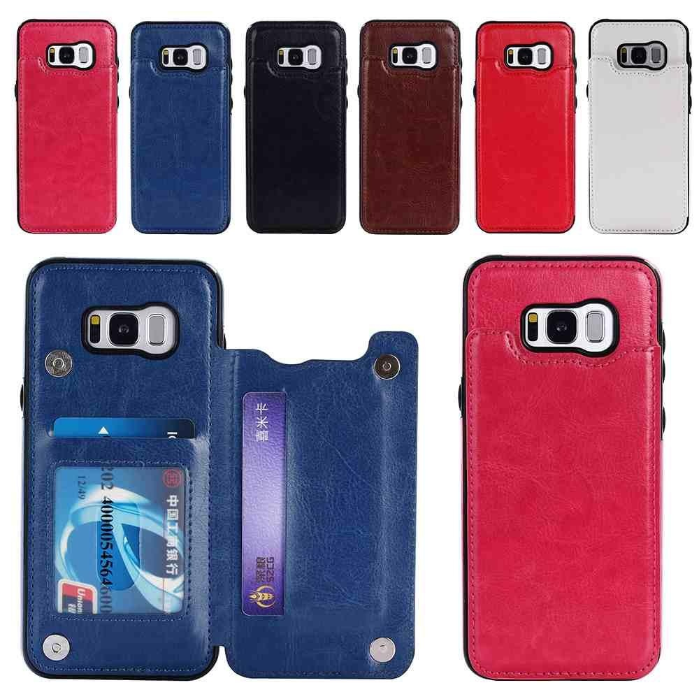 Luxury Flip Back Protective Case Leather for Samsung Galaxy S8 Plus with Card .