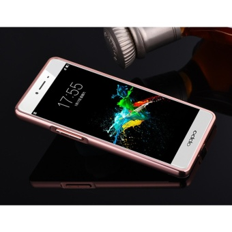 Luxury Mirror Bumper Anti-Scratch Bright Protective Case For OPPOF1/A35(rose gold) - intl - 2