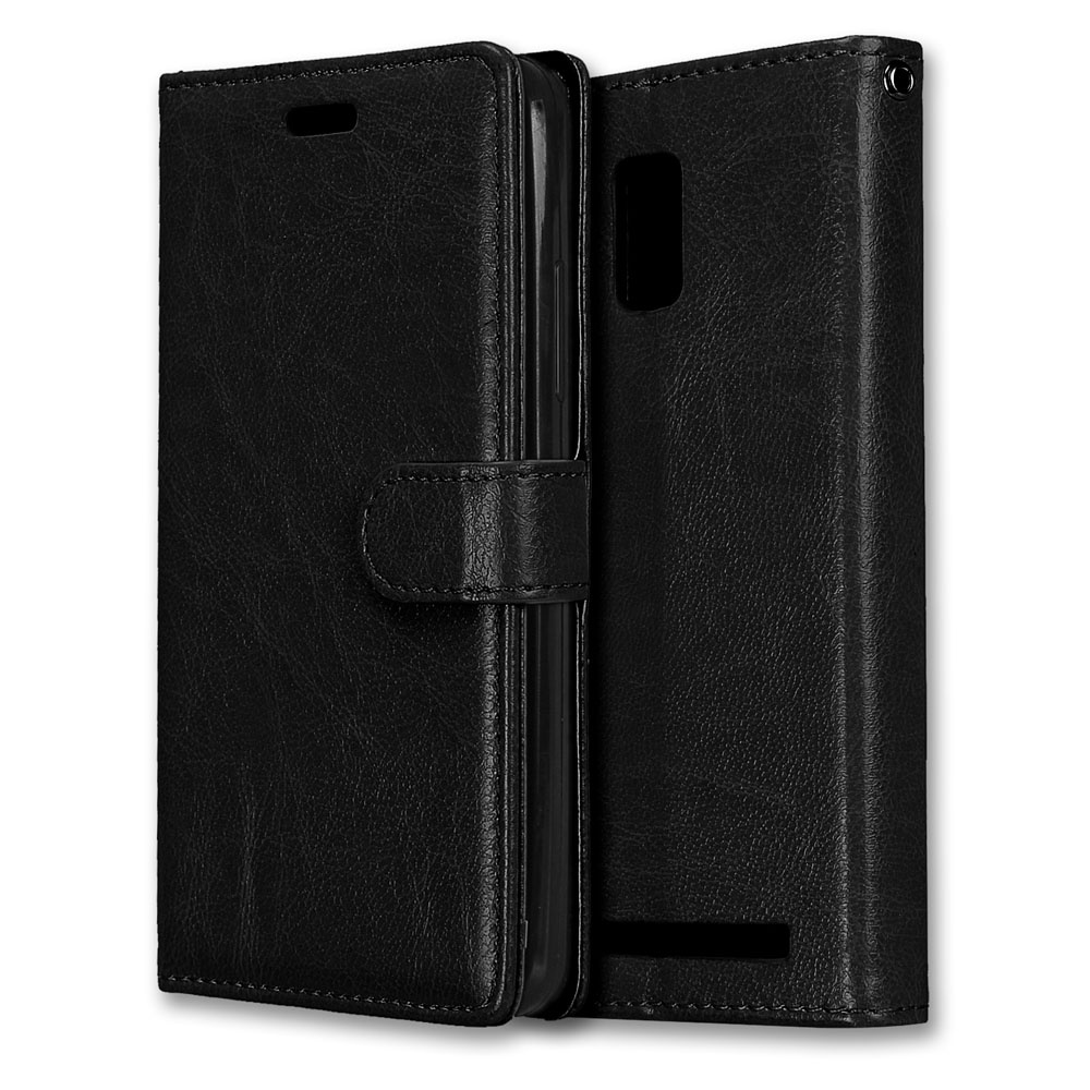 Luxury PU Leather Wallet Flip Protective Case Cover with Card Slotsand Stand for .
