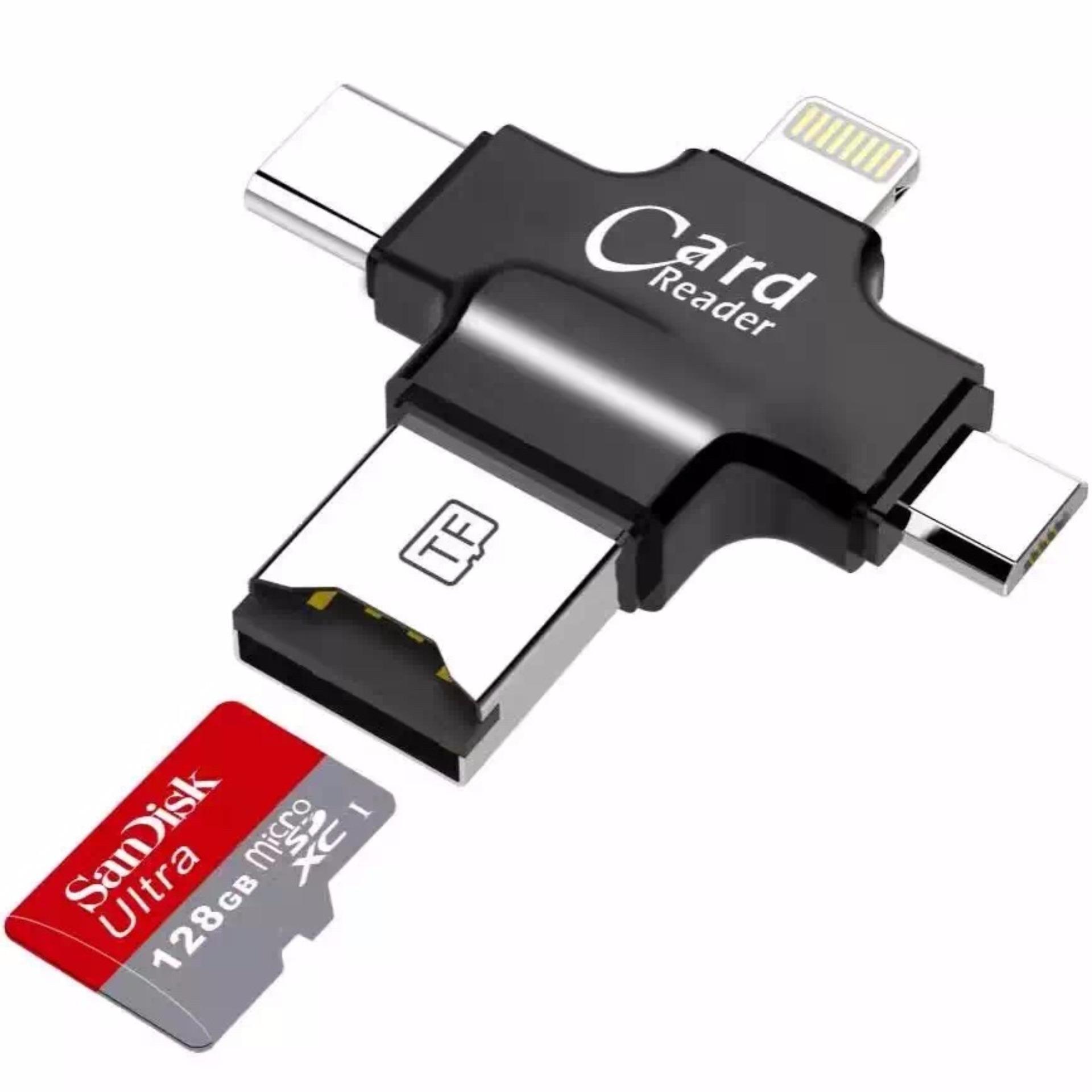 ... LYBALL 4-in-1 USB OTG disebut TF kartu Micro SD Reader USBLightning Type ...