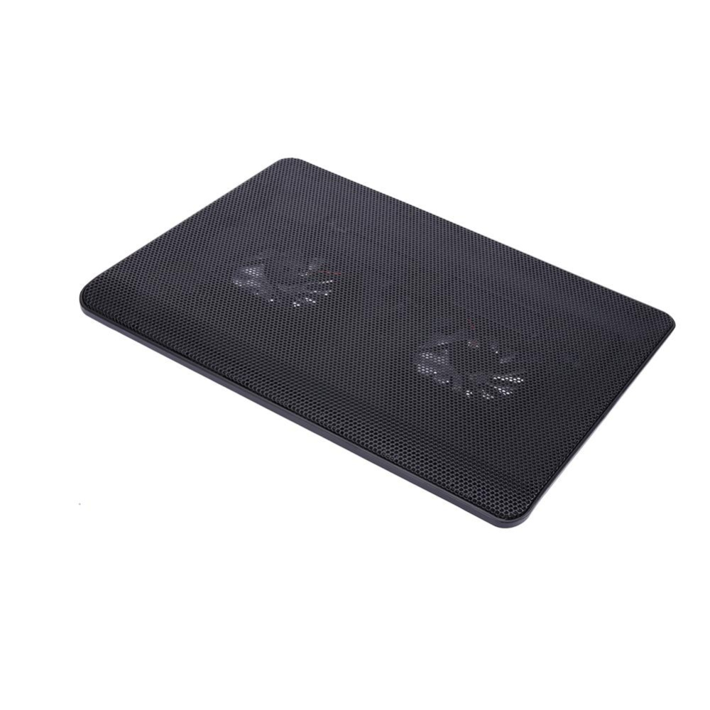 M6 Two-Fan Laptop Cooling Cooler Pad Stand USB Powered for Notebook(Black)