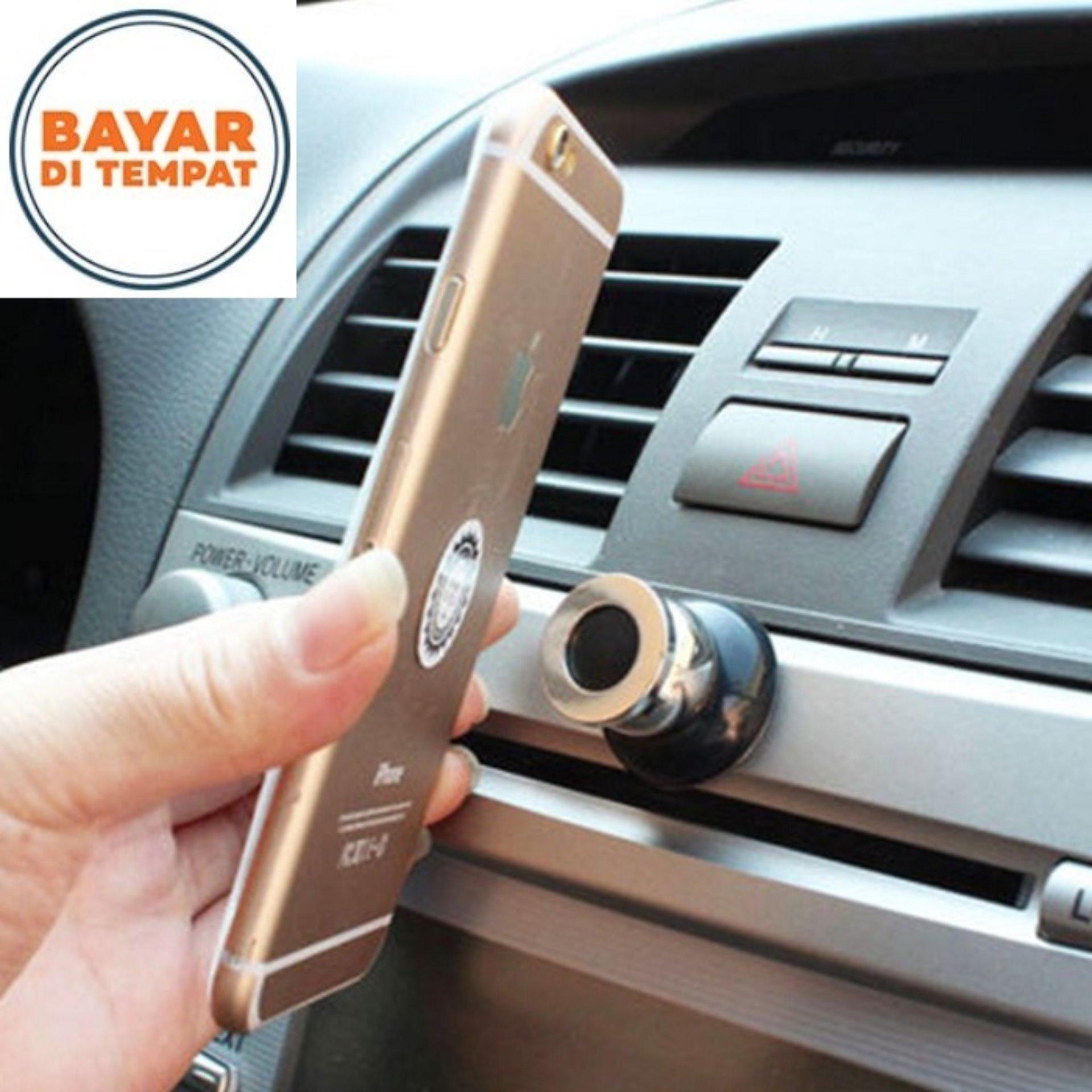 Magnetic Universal Car Phone Holder - Gold
