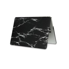 Marble Matte Hard Case Cover Top Bottom Shell For Macbook Air Pro Retina 15.4'' Blackwhite - intl