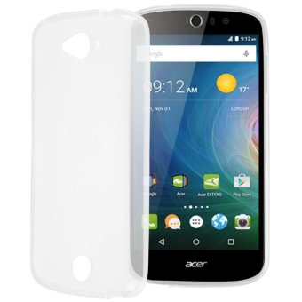 Matte Soft Rubber Silicone Protector Phone Back Case Cover for Acer Liquid Z530 (White)