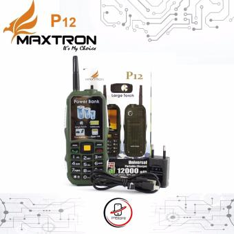 Maxtron p12 New - Baterai 12000mAh(POWER BANK)