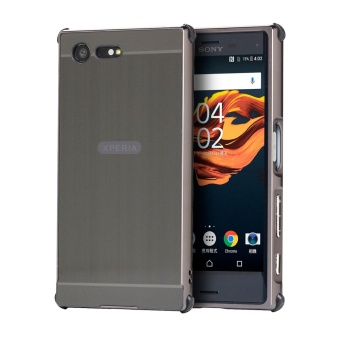 Meishengkai Case For Sony Xperia X Compact Carbon Fiber Resilient Drop Protection Anti-Scratch Rugged Armor Case Grey - intl
