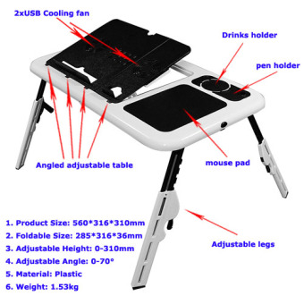 Meja Laptop E-Table / MejaKomputer