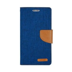 Mercury Canvas Diary Case Vivo Y22 Flip Cover  - Biru