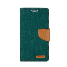 Mercury Canvas Diary Case Vivo Y22 Flip Cover  - Hijau