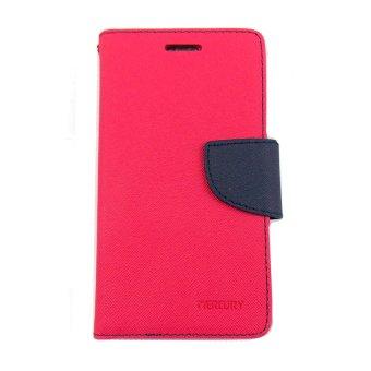 Gambar Mercury Goospery Fancy Diary Case Flip Cover Casing for Zenphone 25.5 Merah Muda