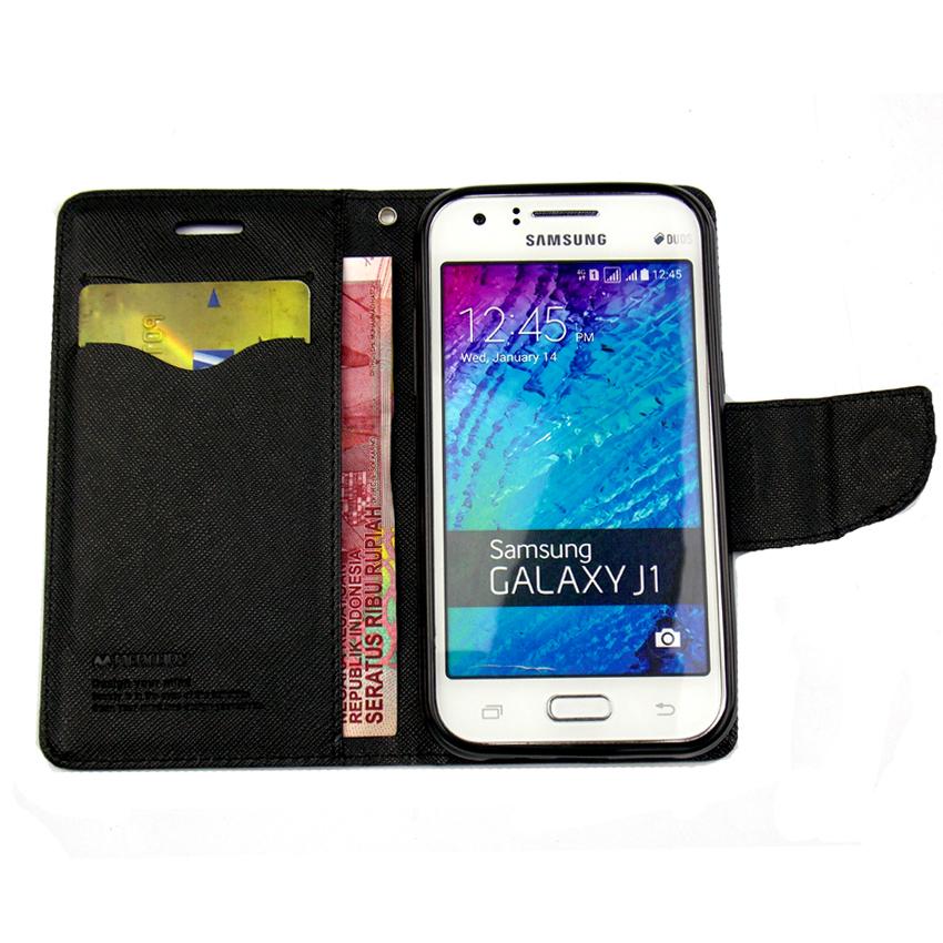 Mercury Goospery Fancy Diary Case Flip Cover For Xiaomi Mi 4i - Hitam .