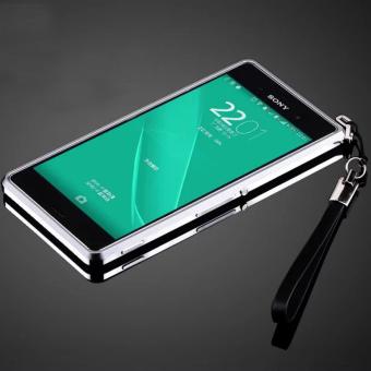 Metal bumper Aluminum Bumper Dual color Metal Frame For Sony Xperia Z3(Silver)