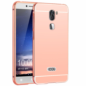 Metal Frame Mirror Back Cover Case For Coolpad Cool1 / Letv LeEcoCoolpad Cool1 Dual / Letv LeEco Cool1 (Rose Gold) - intl
