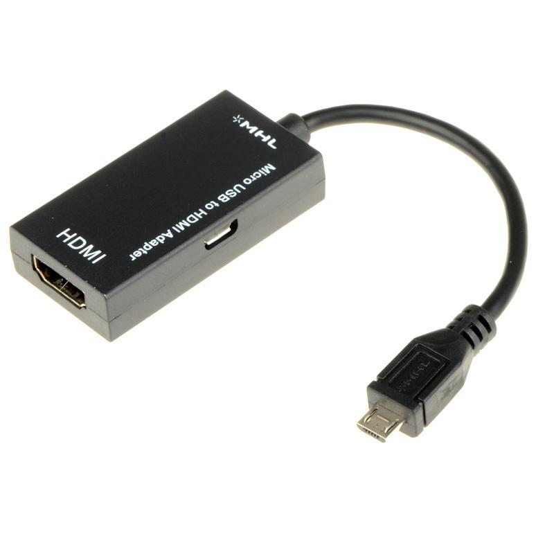 ... MHL Micro USB Male untuk HDMI perempuan kabel adaptor untuk Galaxy S2 (Hitam) ...