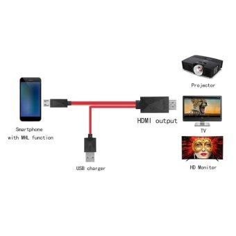 MHL USB mikro untuk HDMI kabel HDTV Converter adaptor untuk Android mendukung MHL hanya - 4