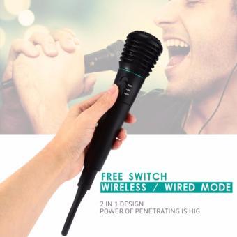 Anggaran Terbaik Mikrofon Profesional 2 in 1 Wireless Wired WM-308 - Hitam Price Checker