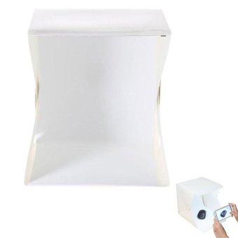 Mini Photo Studio Box Portable Lampu LED Background Hitam