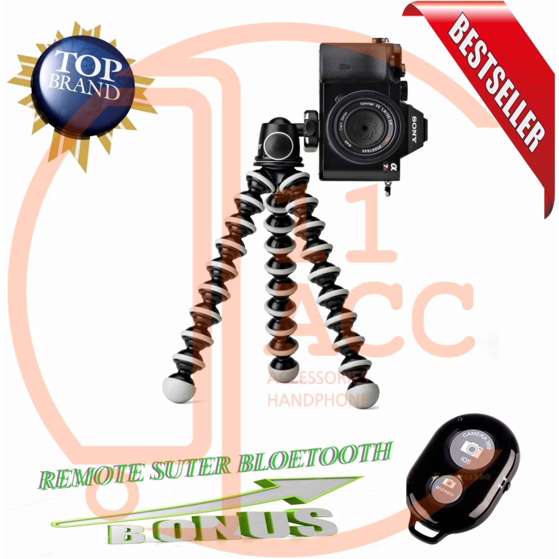 ... Mini Tripod Flexible Tripod Gorilla Pod Octopus + Holder U Free Remote Shutter bluetooth ...