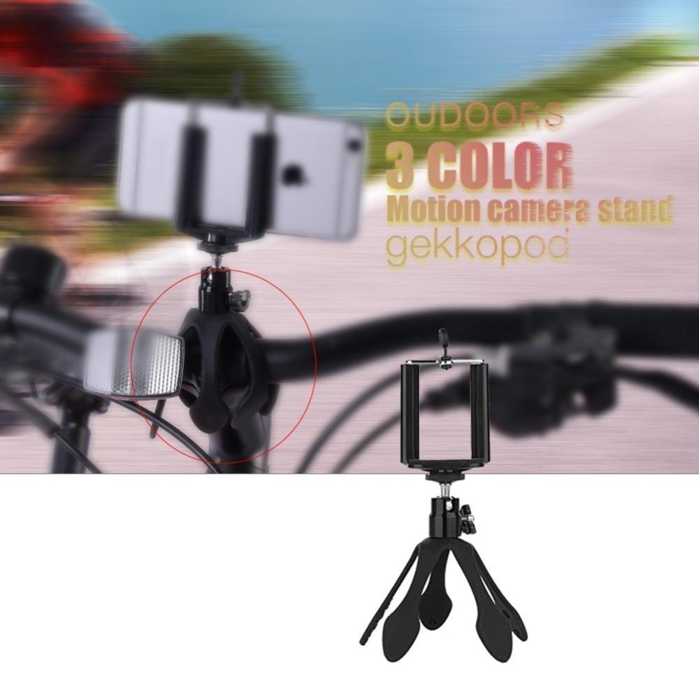 Mini Tripod Mount Portable Flexible Stand Holder with Clip BallHead ( Black)