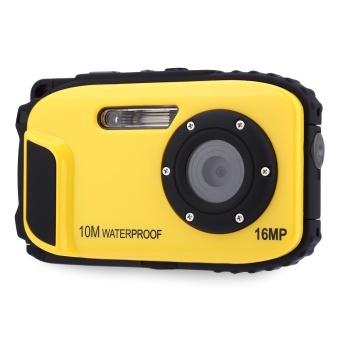 MiniCar Yellow WCM11 10M Waterproof Portable 16MP HD 8X Digital Zoom Camera US PLUG - intl
