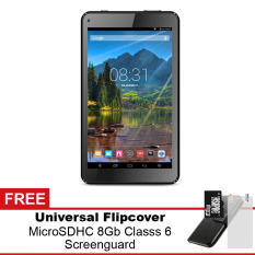 Mito T99 Wifi Tablet - 8GB - Hitam + Gratis Micro SDHC 8Gb Class 6 + Flipcover + Screenguard