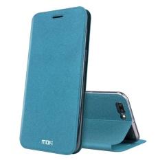 MOFI OPPO R11 Plus Frosted Tekstur Case Kulit Horisontal Flip dengan Pemegang (Biru)-Intl