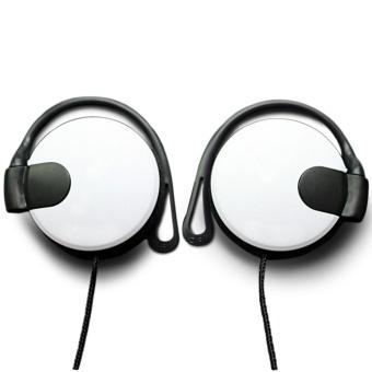 harga Moonar Universal String tebal logam kawat telinga Hook tipe Mega Bass Earphone Headphone untuk 3,5 mm PC ponsel MP3 / MP4 Lazada.co.id