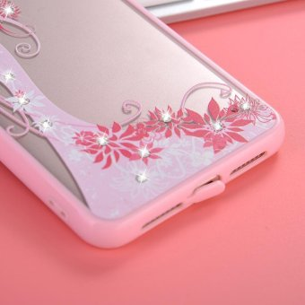 Mooncase Case For OPPO A37 Rhinestone Soft TPU Bling Glitter Transparent Back Case .