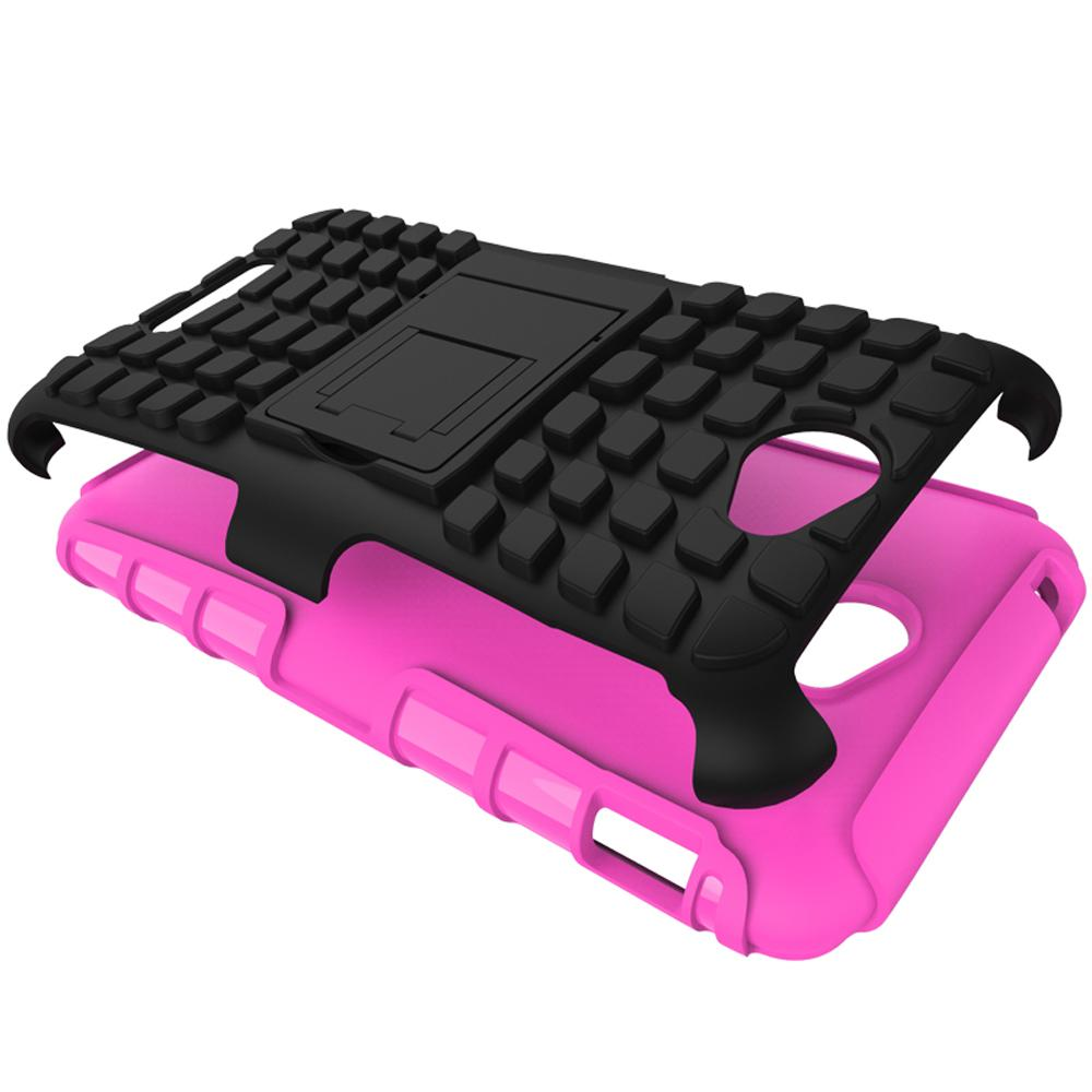Mooncase Case For Sony Xperia E4 Detachable 2 in 1 Shockproof ToughRugged Prevent Slipping Dual-