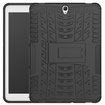 """Mooncase Hybrid Armor Detachable 2 in 1 Silicone RuggedizedShockproof Tough Dual-Layer Case Cover with Kickstand for SamsungGalaxy Tab S3 9.7\ black - intl"""""""