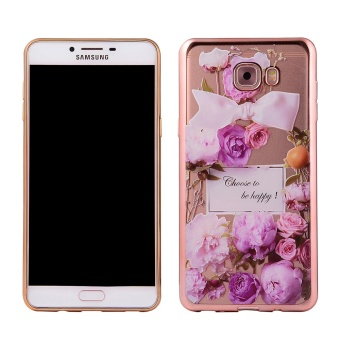 Mooncase Samsung Galaxy C9 Pro Case, Ultra Slim Soft TPU Patternwith Bumper Protective Case Color-12 - intl