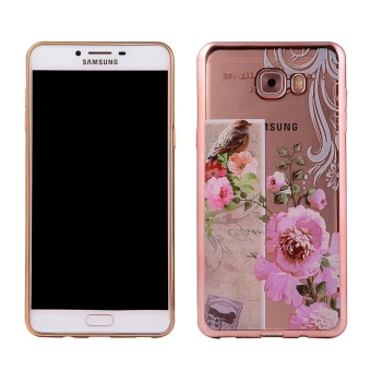 Gambar Mooncase Samsung Galaxy J7 Prime Case, Ultra Slim Soft TPU Patternwith Bumper Protective Case