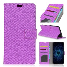 Moonmini Case Cover, For LG Q8 Woven Pattern PU Leather Wallet Case Magnetic Flip Stand Cover with Card Slots Photo Frame - intl
