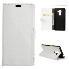 Moonmini Case for BlackBerry DTEK60 Case Litchi Grain Leather Case Flip Stand Cover - White - intl