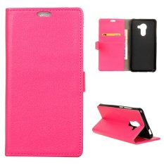 Moonmini Case untuk BlackBerry DTEK60 Case Litchi Grain Leather Case Flip Stand Cover-Hot Pink-Intl
