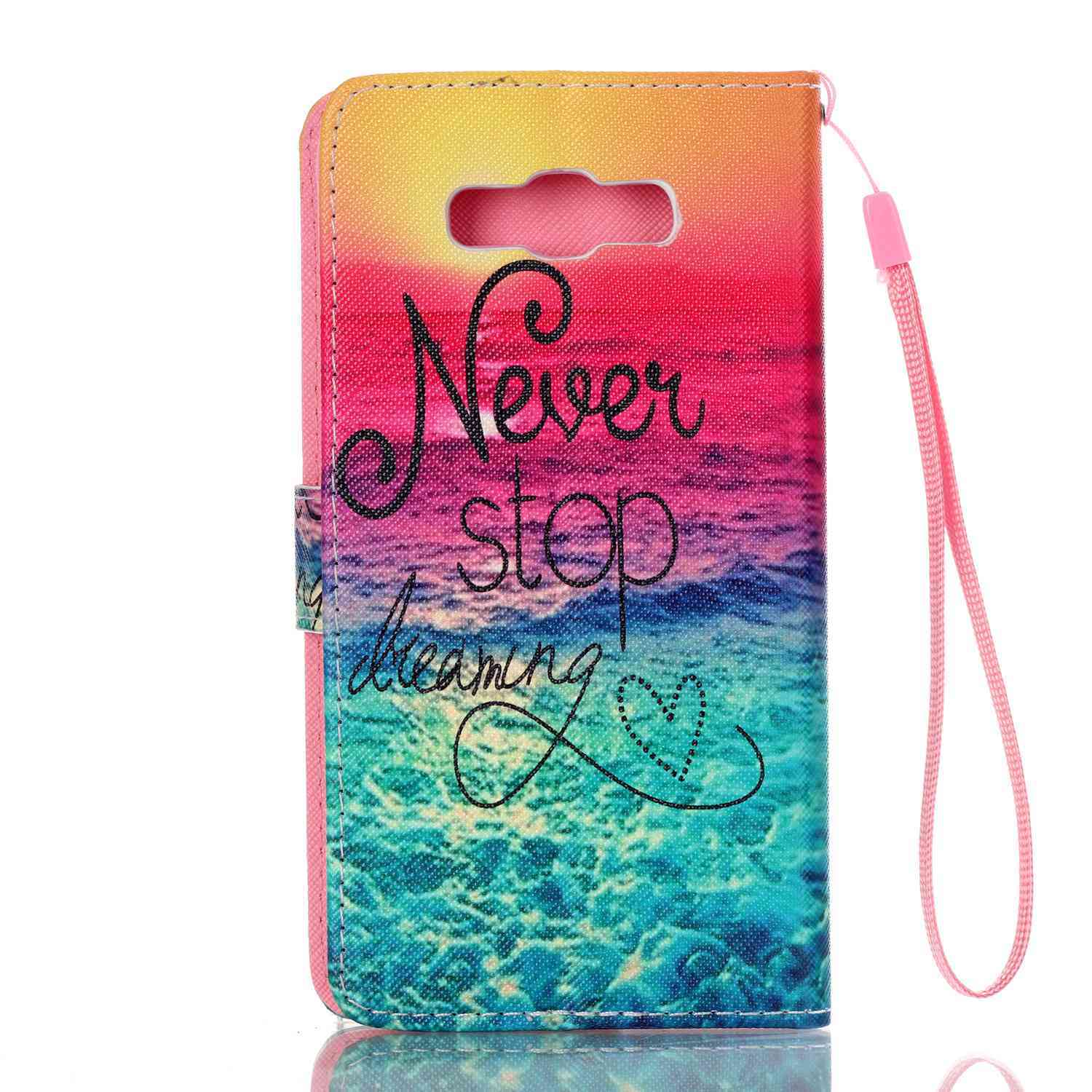 ... Moonmini Flip Cover Leather Case for Samsung Galaxy J7(2016) J710(Never Stop ...