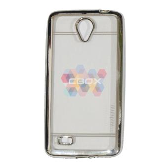 Motomo Chrome TPU Case For Vivo Y21 / Y22 Softcase Shining ClearList Glossy / Soft Jelly Case / Ultrahin / Sofshell / SiliconeShinning / Casing Vivo Y21 / Y22 - Chrome Silver