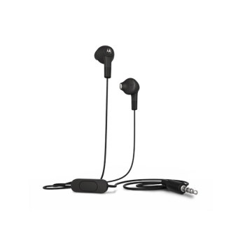 Motorola Wired Earbuds With Remote and Mic Jack 3.5mm (1.2m) - Hitam