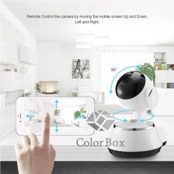 MR IP Camera Smart Net CT V380 Q6 Wifi HD720 P2P CCTV Camera with 2 Way Audio,Motion Sensor Alarm and Micro SD Slot - Putih