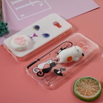 Nail sejumput 3 D silikon licin kucing Paw TPU Case Belakang untuk Samsung .