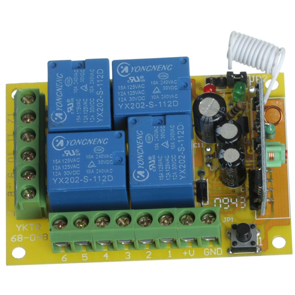New DC 12 V saklar remote nirkabel modul dan mengendalikan mobil remote mengendalikan .