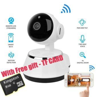 New! Pan kemiringan kamera IP nirkabel WIFI 720P Cam CCTV rumah Micro SD Slot keamanan dukungan mikrofon dan P2P aplikasi gratis ABS plastik